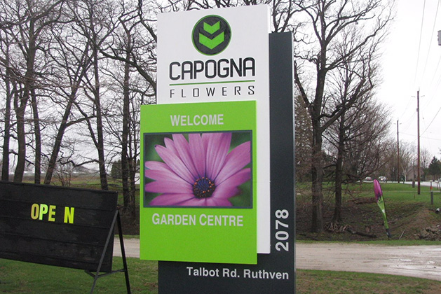 capogna flowers sign