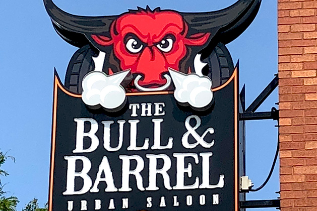 bull and barrel sign